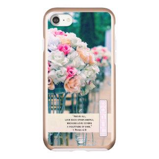 Capa Incipio DualPro Shine Para iPhone 8/7 Amor do buquê da flor e verso da bíblia do