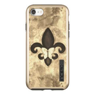 Capa Incipio DualPro Shine Para iPhone 8/7 Borboleta bege de Brown do Sepia da tecnologia  