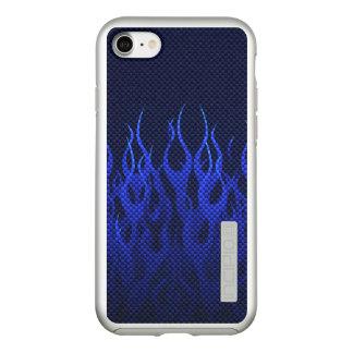Capa Incipio DualPro Shine Para iPhone 8/7 Decoração das chamas azuis em a