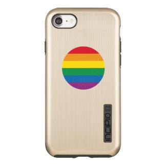 Capa Incipio DualPro Shine Para iPhone 8/7 Design colorido do arco-íris do orgulho  