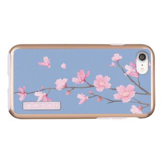 Capa Incipio DualPro Shine Para iPhone 8/7 Flor de cerejeira - azul da serenidade
