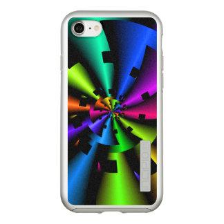 Capa Incipio DualPro Shine Para iPhone 8/7 Fractal metálico do arco-íris