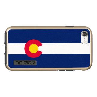 Capa Incipio DualPro Shine Para iPhone 8/7 Gráfico dinâmico da bandeira do estado de Colorado