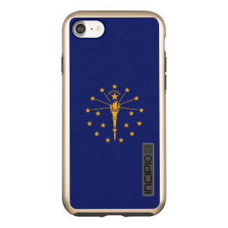 Capa Incipio DualPro Shine Para iPhone 8/7 Gráfico dinâmico da bandeira do estado de Indiana
