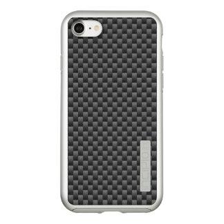 Capa Incipio DualPro Shine Para iPhone 8/7 Impressão automotriz da fibra do carbono do preto