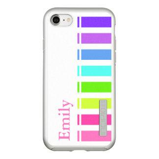 Capa Incipio DualPro Shine Para iPhone 8/7 Monograma colorido das listras