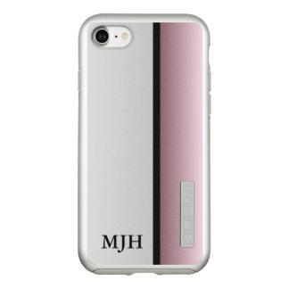 Capa Incipio DualPro Shine Para iPhone 8/7 Monograma de prata e malva