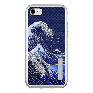 Capa Incipio DualPro Shine Para iPhone 8/7 O grande estilo do carbono do cromo da onda de