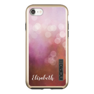 Capa Incipio DualPro Shine Para iPhone 8/7 O rosa bonito imprimiu o brilho do bokeh