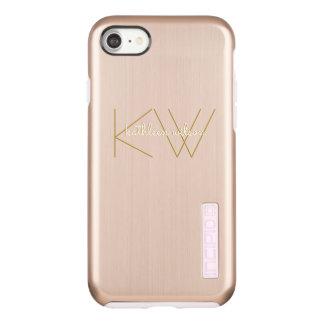 Capa Incipio DualPro Shine Para iPhone 8/7 Ouro cor-de-rosa do luxo minimalista moderno do