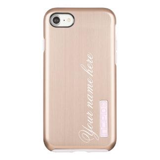 Capa Incipio DualPro Shine Para iPhone 8/7 Ouro cor-de-rosa nome ou monograma personalizado