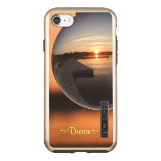 Capa Incipio DualPro Shine Para iPhone 8/7 Por do sol sobre o sonho da bola de cristal da