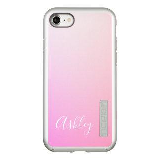 Capa Incipio DualPro Shine Para iPhone 8/7 Sua gradação cor-de-rosa do nome ou da palavra  