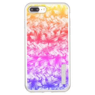 Capa Incipio DualPro Shine Para iPhone 8 Plus/7 Pl A azálea cor-de-rosa floresce o arco-íris