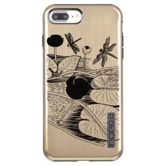 Capa Incipio DualPro Shine Para iPhone 8 Plus/7 Pl Água-lírios que gravam