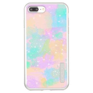 Capa Incipio DualPro Shine Para iPhone 8 Plus/7 Pl aguarela pastel brilhante moderna elegante