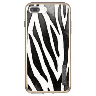 Capa Incipio DualPro Shine Para iPhone 8 Plus/7 Pl Brilho positivo de DualPro do iPhone 7 da zebra,