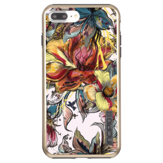 Capa Incipio DualPro Shine Para iPhone 8 Plus/7 Pl Brilho positivo de DualPro do iPhone 7 florais,