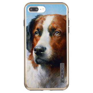 Capa Incipio DualPro Shine Para iPhone 8 Plus/7 Pl Cão de St Bernard do vintage