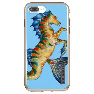 Capa Incipio DualPro Shine Para iPhone 8 Plus/7 Pl Cavalo marinho no azul