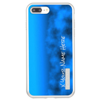 Capa Incipio DualPro Shine Para iPhone 8 Plus/7 Pl Céu nocturno azul de néon com nome preto da