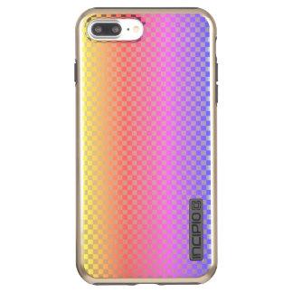 Capa Incipio DualPro Shine Para iPhone 8 Plus/7 Pl Colorido brilhante Checkered da verificação do