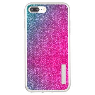 Capa Incipio DualPro Shine Para iPhone 8 Plus/7 Pl Colorido brilhante floral azul silenciado