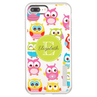 Capa Incipio DualPro Shine Para iPhone 8 Plus/7 Pl Corujas bonitos de Litte Monogrammed