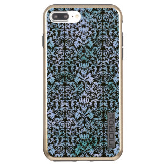 Capa Incipio DualPro Shine Para iPhone 8 Plus/7 Pl Damasco azul de Shibori do Batik do céu nocturno