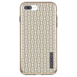 Capa Incipio DualPro Shine Para iPhone 8 Plus/7 Pl Decoração cinzenta e bege de Greige -