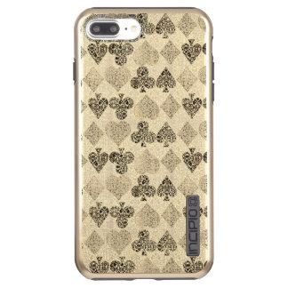Capa Incipio DualPro Shine Para iPhone 8 Plus/7 Pl Diamante bege Antiqued envelhecido do coração do