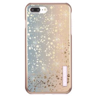 Capa Incipio DualPro Shine Para iPhone 8 Plus/7 Pl Faísca silenciado da folha da estrela do ouro do
