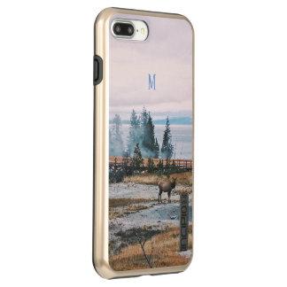 Capa Incipio DualPro Shine Para iPhone 8 Plus/7 Pl Feriados da alegria da rena das árvores da queda