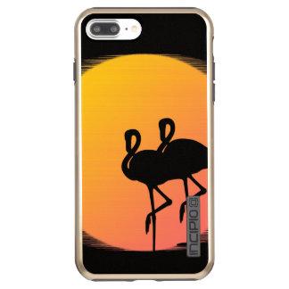 Capa Incipio DualPro Shine Para iPhone 8 Plus/7 Pl Flamingos do por do sol