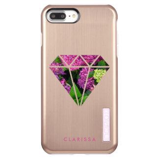 Capa Incipio DualPro Shine Para iPhone 8 Plus/7 Pl flor moderna elegante do lilac do diamante