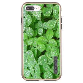 Capa Incipio DualPro Shine Para iPhone 8 Plus/7 Pl Folha do verde do orvalho da chuva da mola de