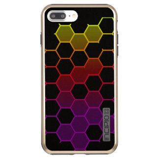 Capa Incipio DualPro Shine Para iPhone 8 Plus/7 Pl Hex da cor no preto