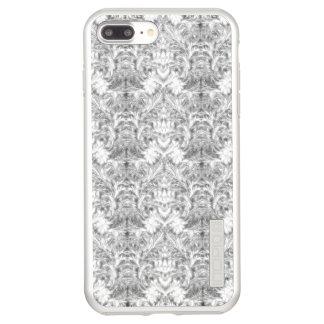 Capa Incipio DualPro Shine Para iPhone 8 Plus/7 Pl Ilusão branca do damasco do borrão da sombra do