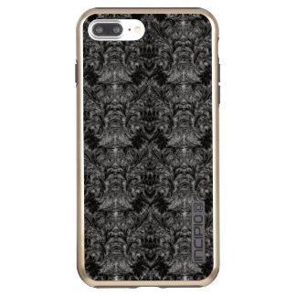 Capa Incipio DualPro Shine Para iPhone 8 Plus/7 Pl Ilusão preta do damasco do borrão da sombra do