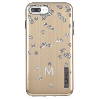 Capa Incipio DualPro Shine Para iPhone 8 Plus/7 Pl iPhone 7 do ouro de Bling+ Caso do brilho de