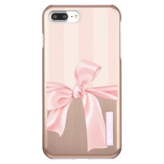 Capa Incipio DualPro Shine Para iPhone 8 Plus/7 Pl Listras & luz cor-de-rosa femininos parisienses -