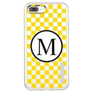 Capa Incipio DualPro Shine Para iPhone 8 Plus/7 Pl Monograma simples com tabuleiro de damas amarelo