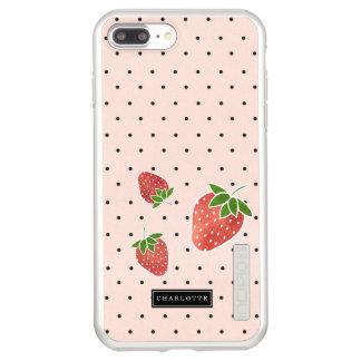 Capa Incipio DualPro Shine Para iPhone 8 Plus/7 Pl Morangos & pontos personalizados