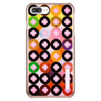 Capa Incipio DualPro Shine Para iPhone 8 Plus/7 Pl Multi círculos coloridos legal & trevos