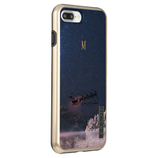 Capa Incipio DualPro Shine Para iPhone 8 Plus/7 Pl Papai noel que voa os feriados especiais dos