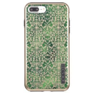 Capa Incipio DualPro Shine Para iPhone 8 Plus/7 Pl Patina afligido do damasco do mar verde erva
