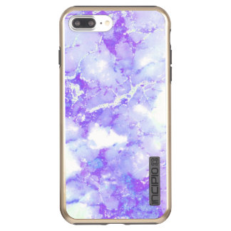 Capa Incipio DualPro Shine Para iPhone 8 Plus/7 Pl Pedra de mármore nebulosa da lavanda roxa