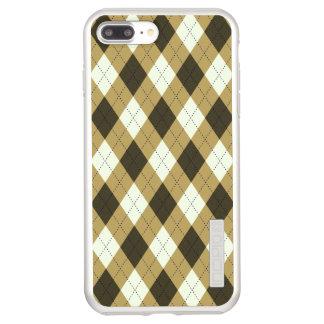 Capa Incipio DualPro Shine Para iPhone 8 Plus/7 Pl Preto e teste padrão geométrico de Argyle das