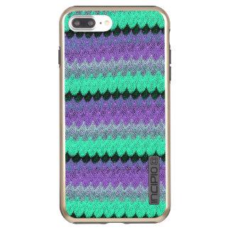 Capa Incipio DualPro Shine Para iPhone 8 Plus/7 Pl Scallop roxo das ondas do Lilac do preto da