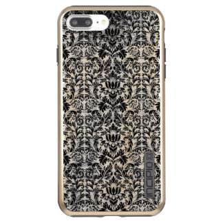 Capa Incipio DualPro Shine Para iPhone 8 Plus/7 Pl Teste padrão envelhecido do preto do estilo do